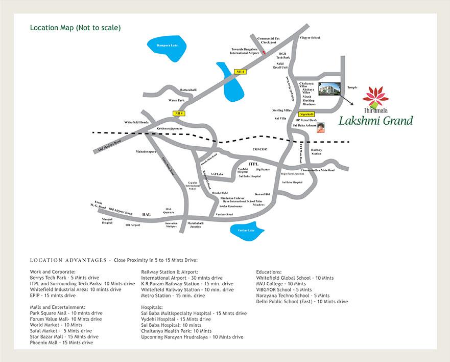 Thirumala Lakshmi Grand Location
